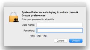 Gợi ý mật khẩu macOS