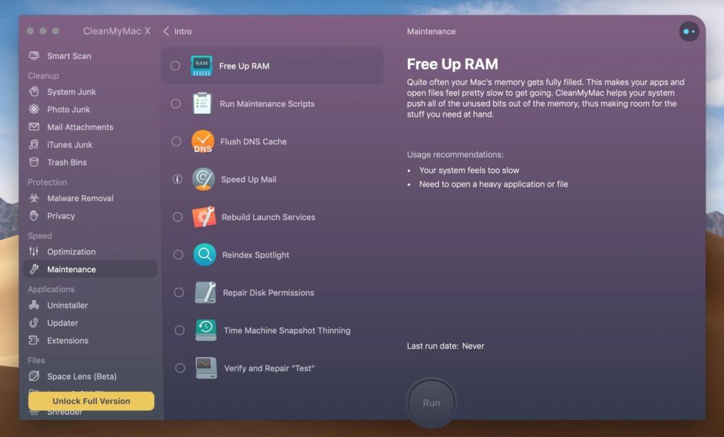Cách giải phóng và tối ưu bộ nhớ (RAM) trên MacBook