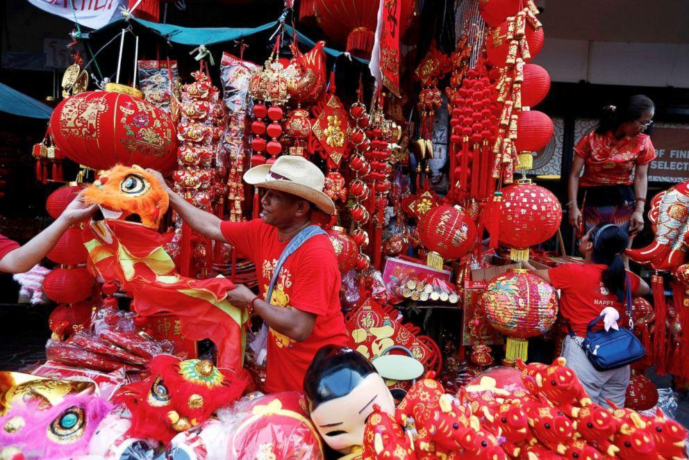 Ảnh chợ Tết của người Trung Quốc