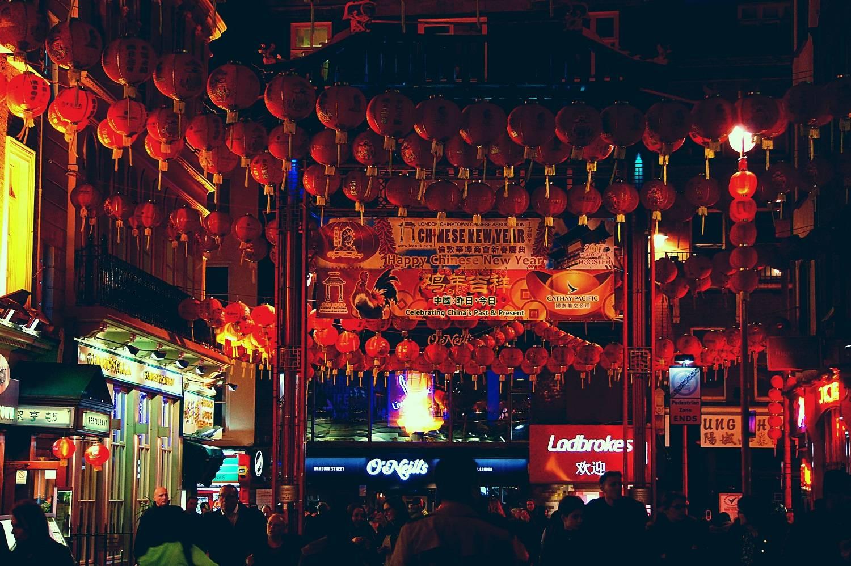Ảnh năm mới ở Trung Quốc lúc về đêm