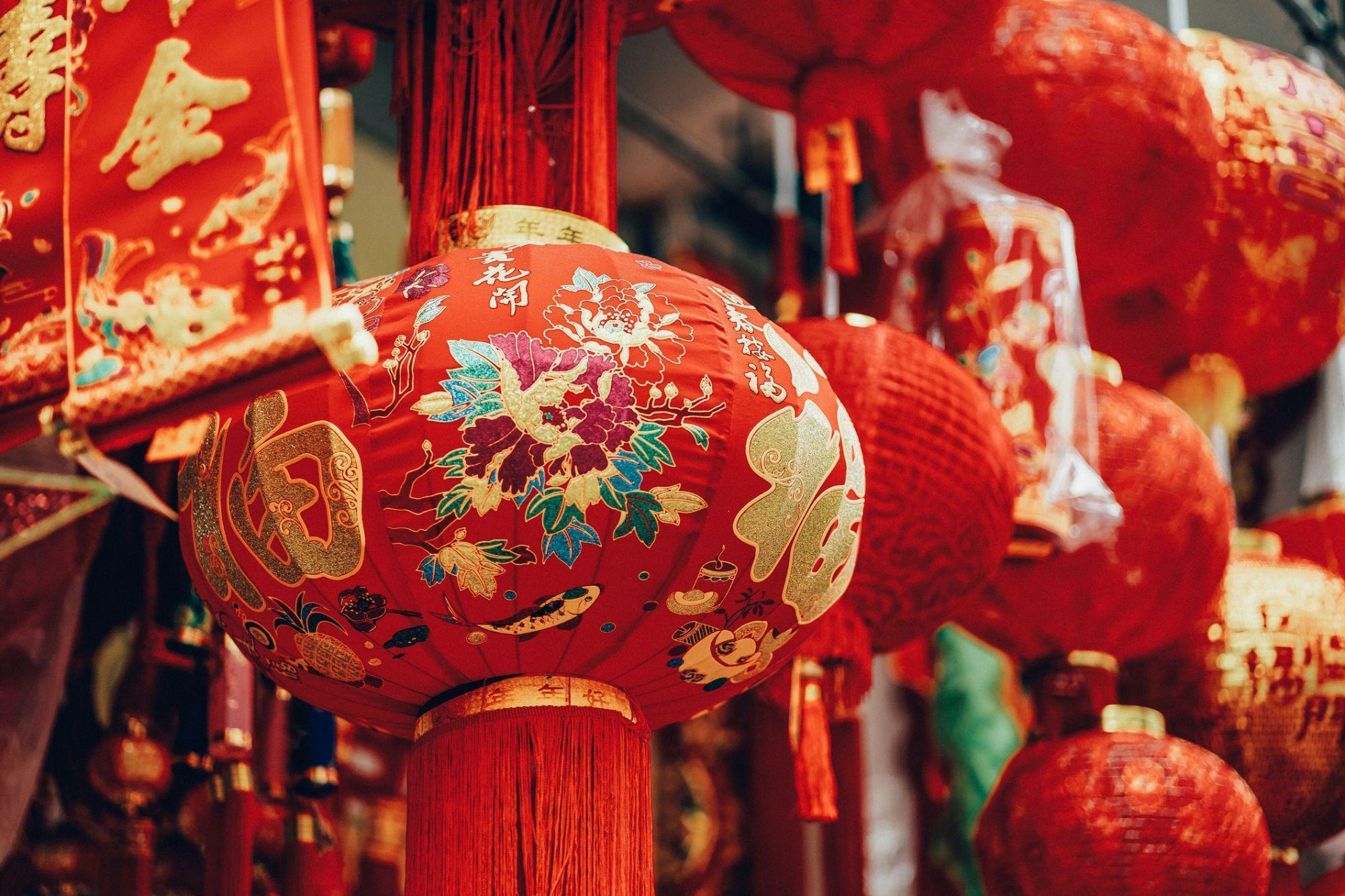Ảnh Tết Trung Quốc với những chiếc lồng đèn