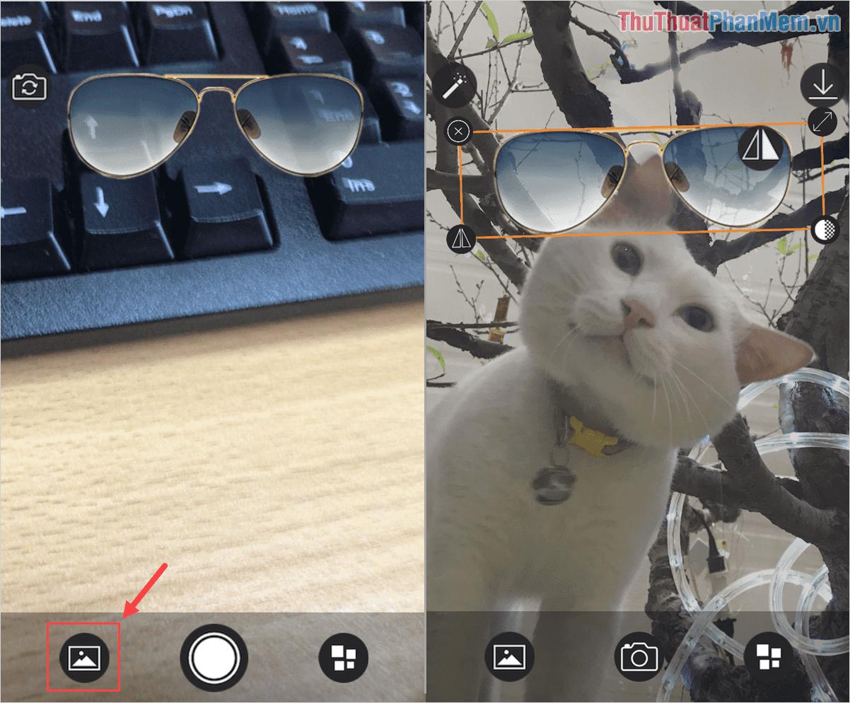 Bạn có thể chọn việc chụp ảnh trực tiếp hoặc chọn hình ảnh có sẵn trên điện thoại