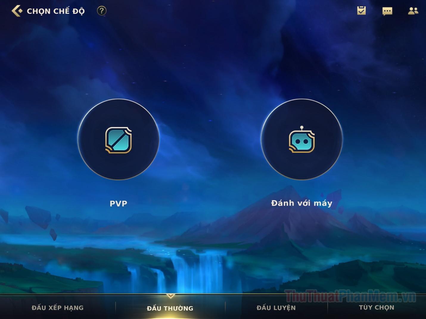 Để bắt đầu trò chơi, hãy nhấn với hút Play màu xanh ở góc dưới cùng bên phải
