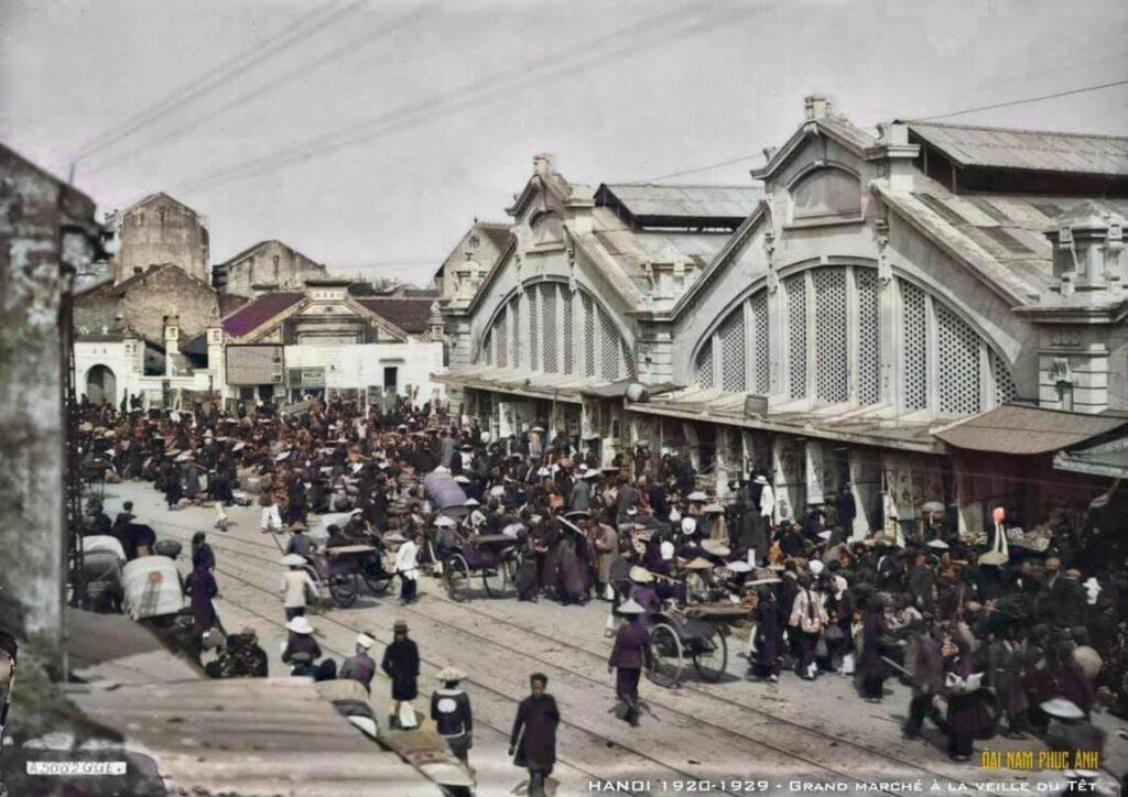 Hình ảnh chợ Tết Hà Nội những năm 1920