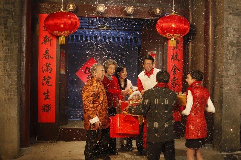 Hình ảnh đi chúc Tết người Trung Quốc