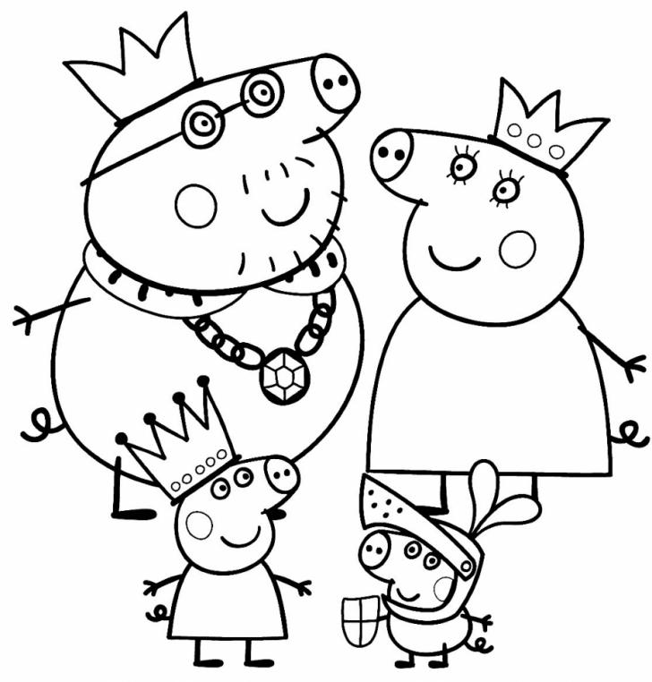 Hình ảnh gia đình hoàng tộc heo Peppa