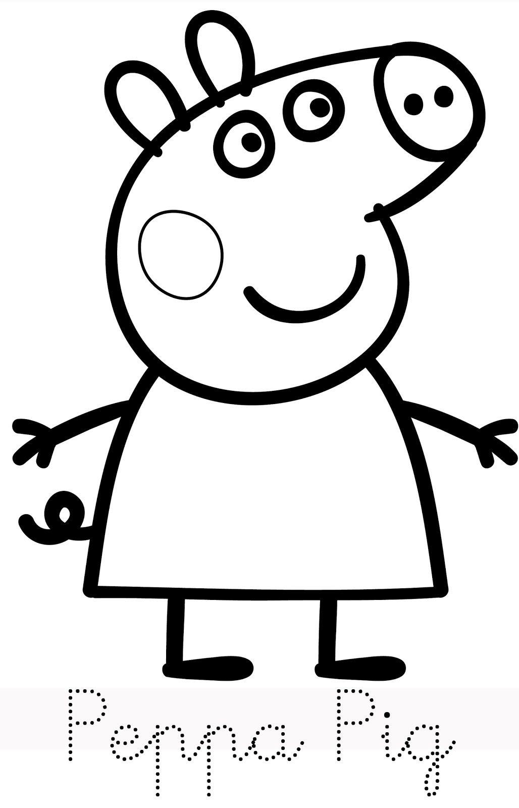 Hình ảnh tô màu Peppa pig