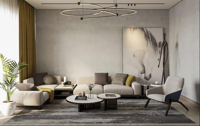 Hình ảnh trang trí phòng khách cổ điển