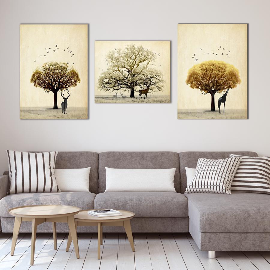 Hình ảnh tranh trang trí phòng khách