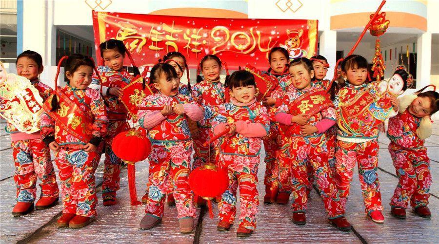 Hình ảnh trẻ em Trung Quốc trong những ngày đầu năm