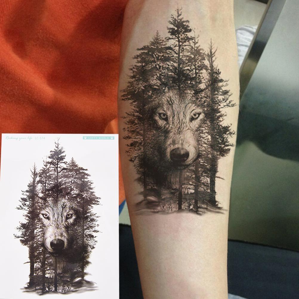 Hình Tattoo cho sói đẹp nhất