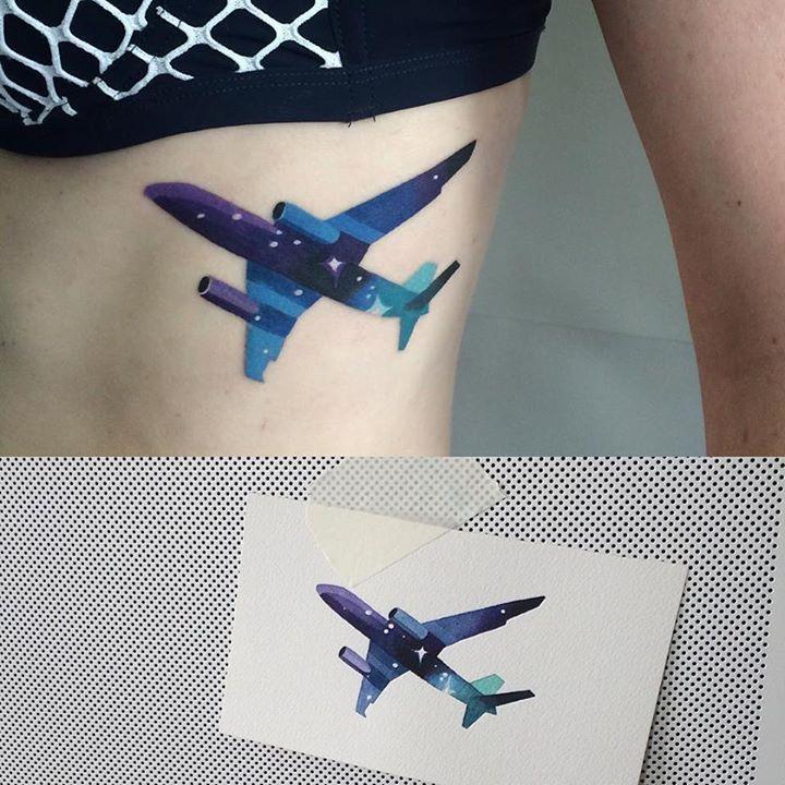 Hình Tattoo máy bay đẹp nhất
