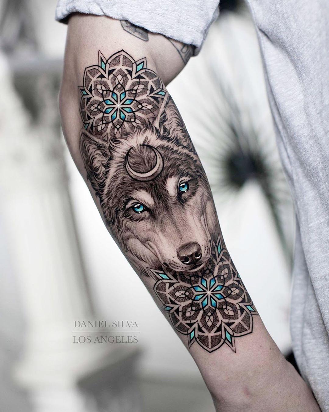 Hình Tattoo sói