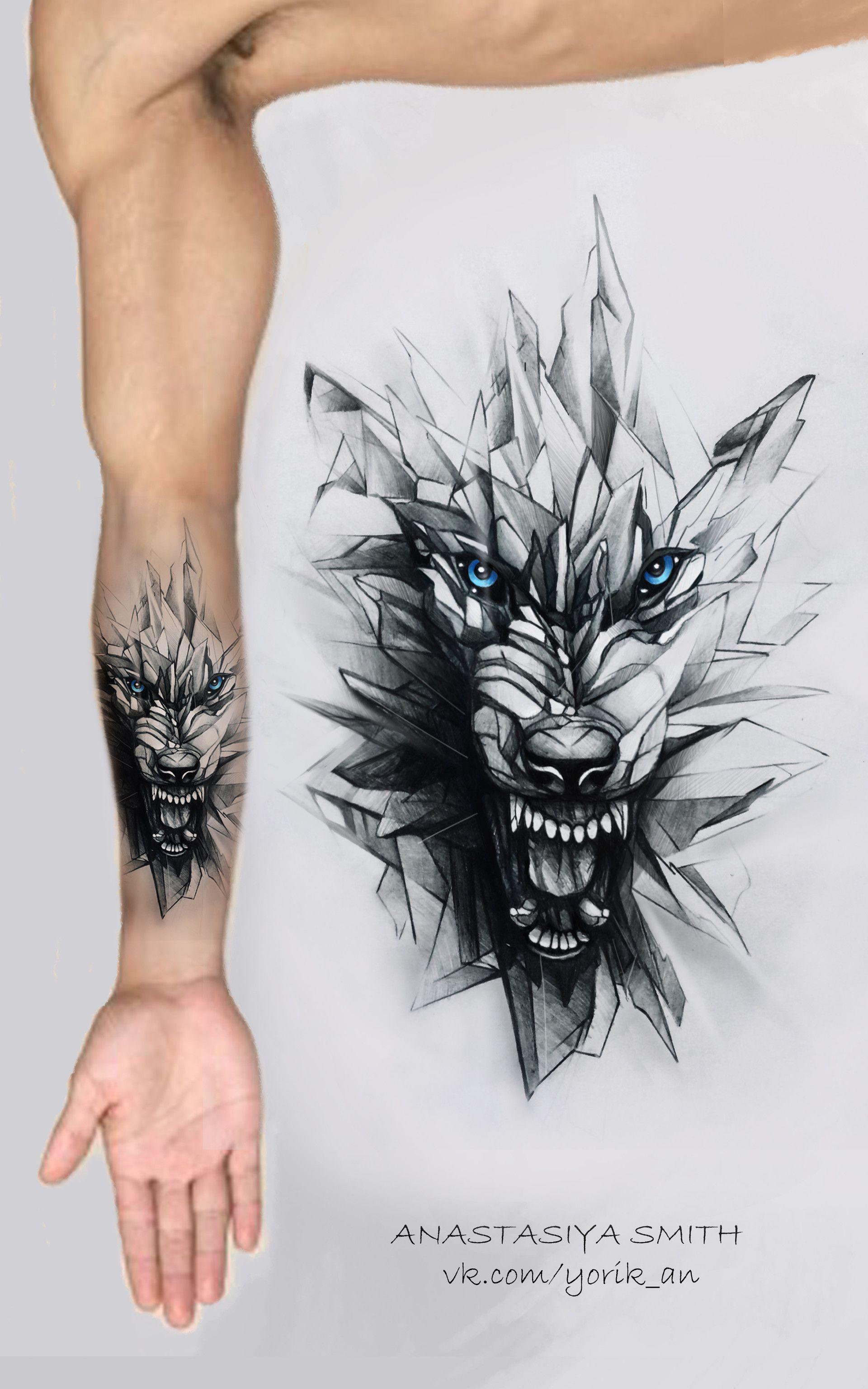 Hình xăm chó sói sáng tạo nhất