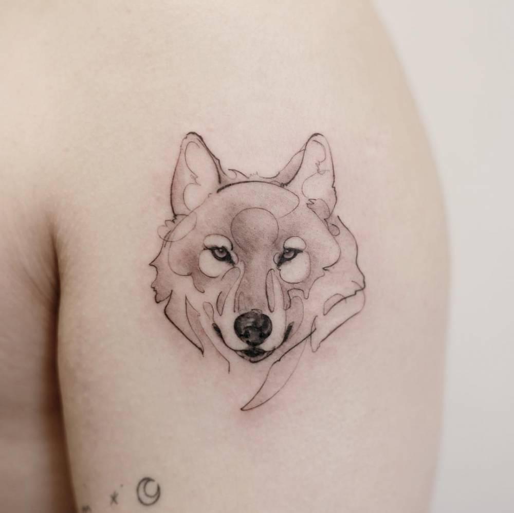 Hình xăm chó sói