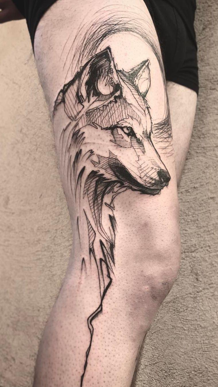 Hình xăm viền chó sói