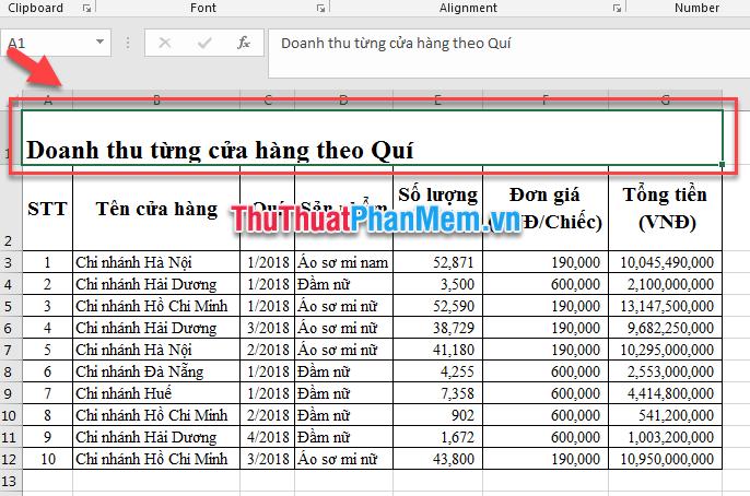 Nhấn tổ hợp phím Ctrl và Q