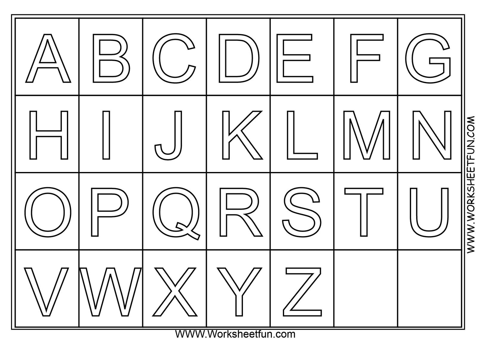 Tranh tô màu cả bảng chữ cái từ a đến z
