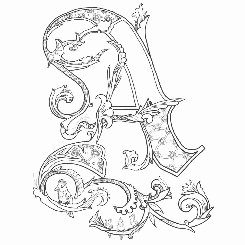Tranh tô màu chữ cái A với nhiều chi tiết đẹp