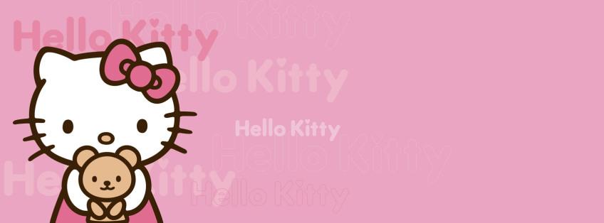 Ảnh bìa mèo hello kitty cute