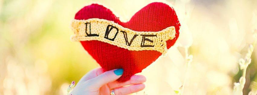 Ảnh bìa trái tim cute