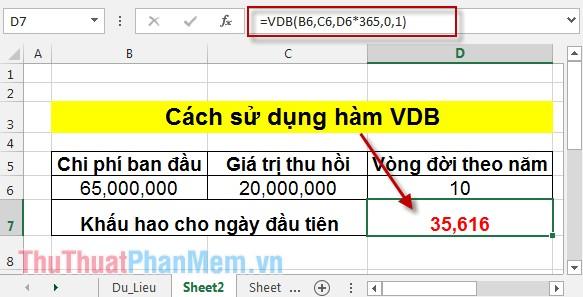 Cách sử dụng hàm VDB 3