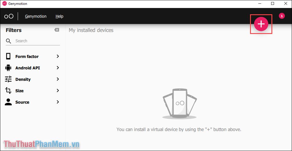 Chọn biểu tượng Add để bắt đầu thêm máy ảo vào trong hệ thống phần mềm