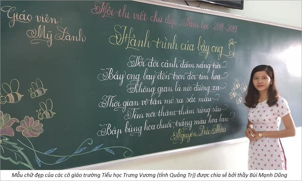 Chữ đẹp của cô giáo