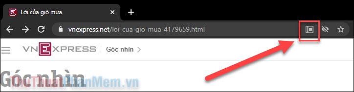 Hiển thị biểu tượng Chế độ Đọc xuất hiện trên thanh URL