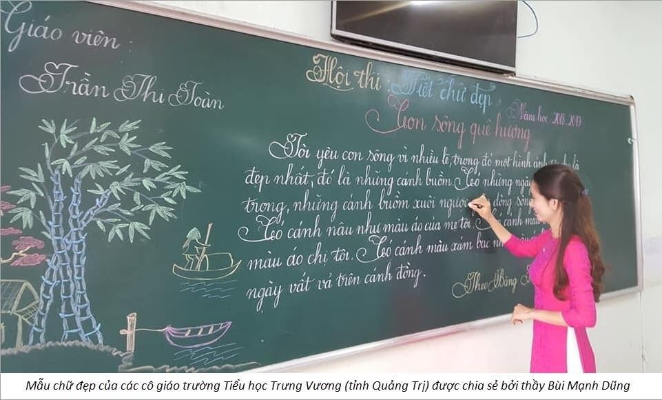 Hình ảnh mẫu chữ đẹp của các cô giáo