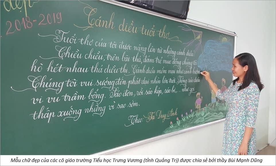 Hình ảnh mẫu chữ đẹp của cô giáo