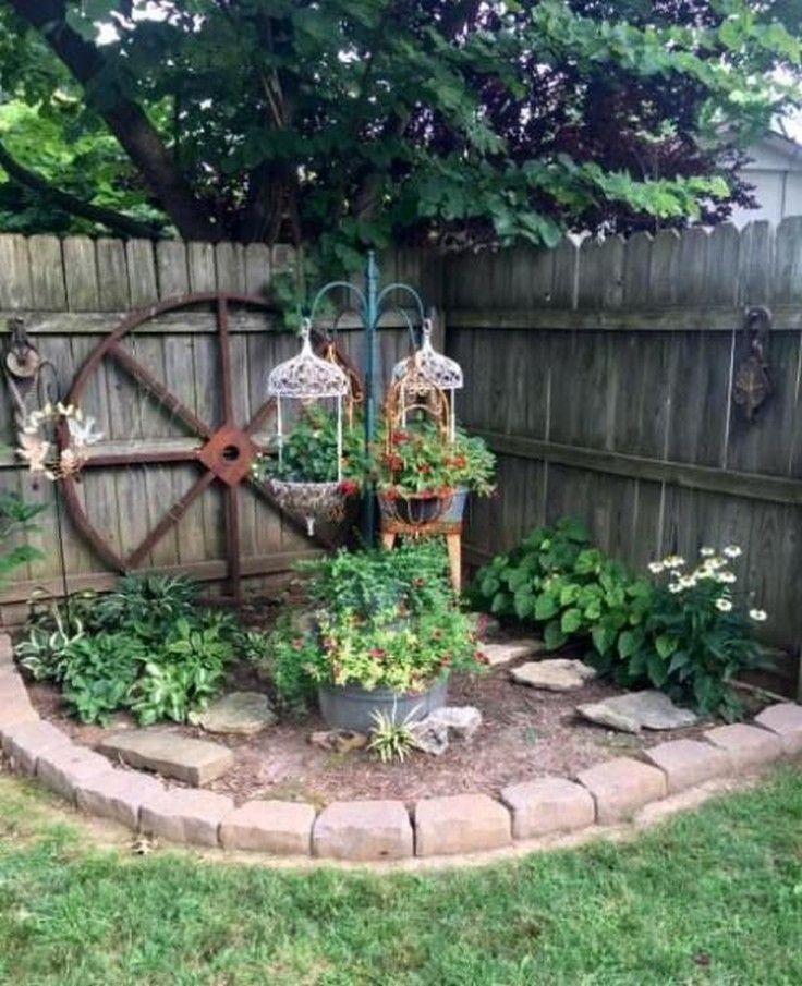 Hình ảnh tiểu cảnh sân vườn hoa đẹp