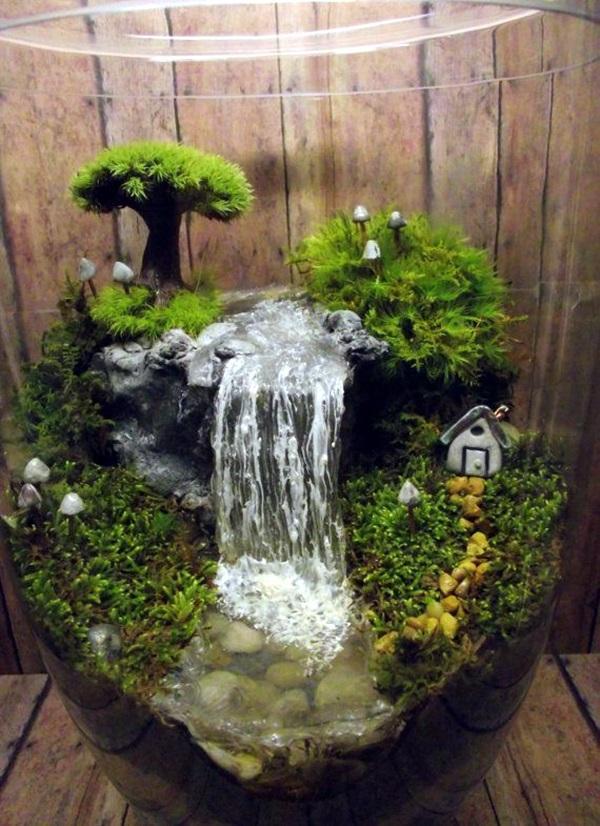 Hình ảnh tiểu cảnh sân vườn mini đẹp