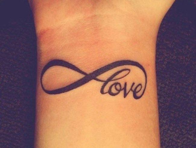 hình xăm chữ love ở cổ tay đẹp