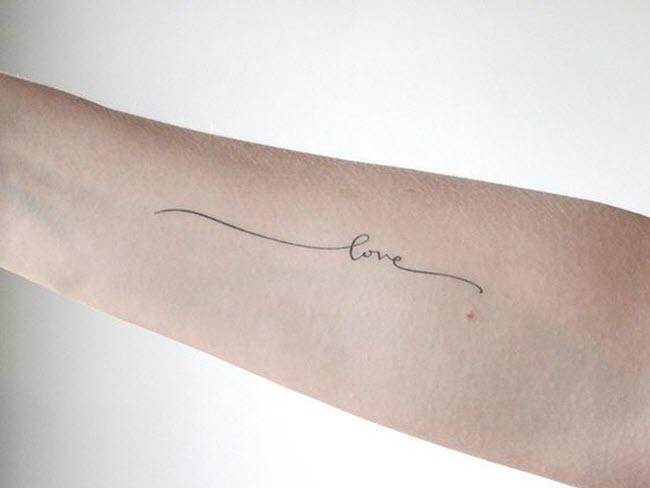 hình xăm chữ love trên tay đẹp