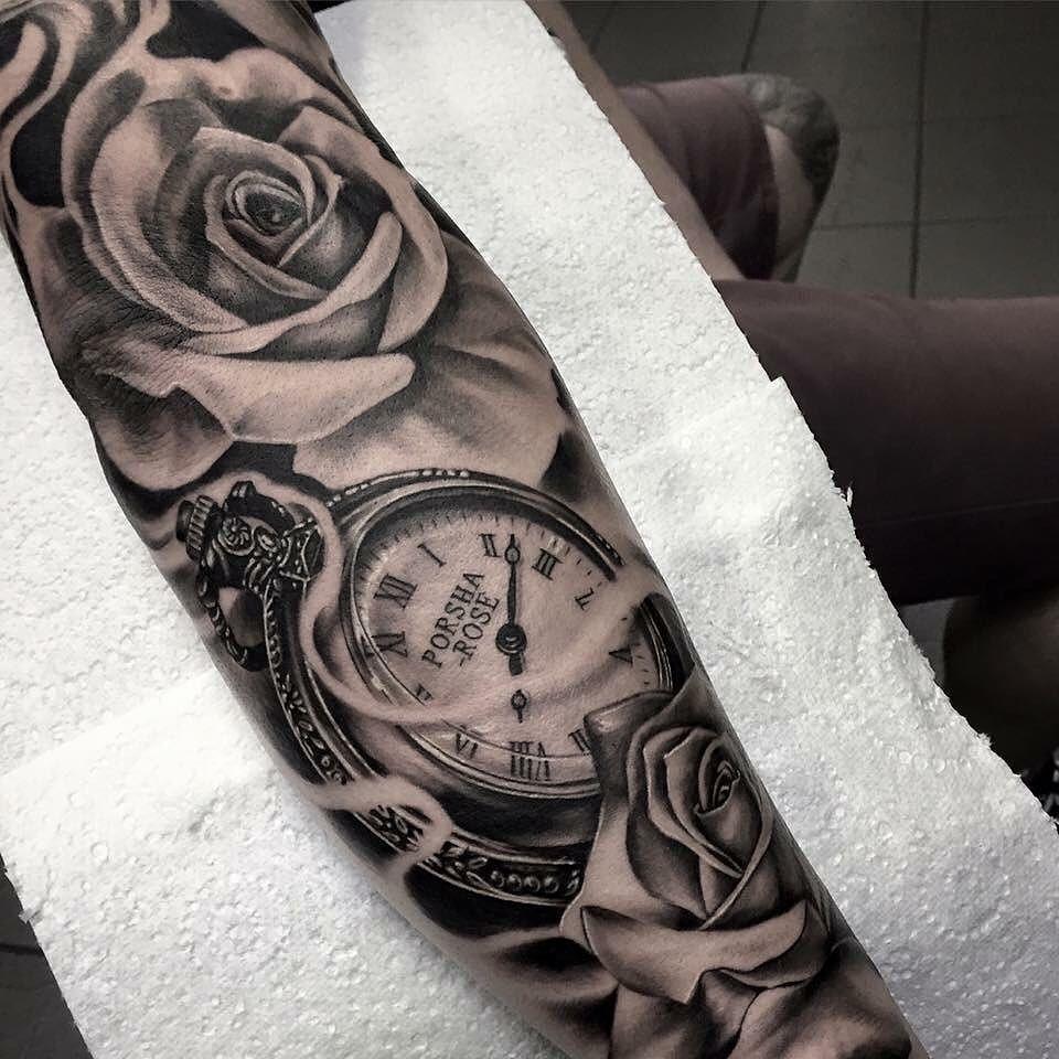 Hình xăm đồng hồ cho nữ đẹp nhất