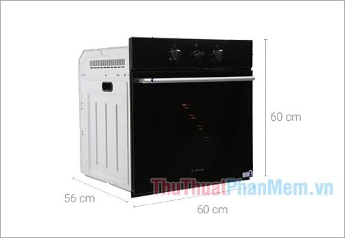 Kích thước lò nướng âm Malloca EB-56RG-5C11 56 lít