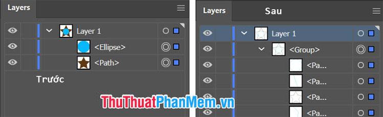 Layer mới sẽ được tạo ra với những thành phần khác nhau