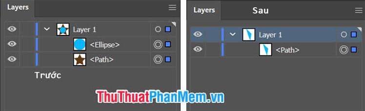 Lệnh Minus Back sẽ giữ lại phần layer không giao nhau và bỏ hết phần layer giao nhau