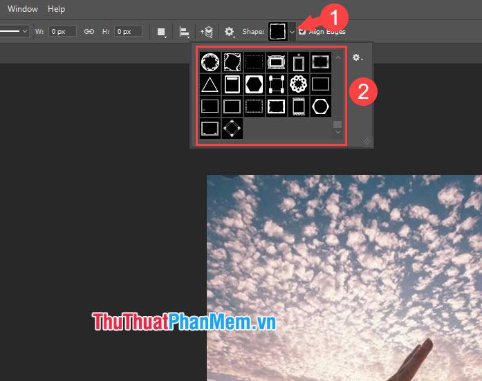 Lựa chọn mẫu border mà bạn thích, click chuột trái và vẽ đường viền border bao quanh ảnh