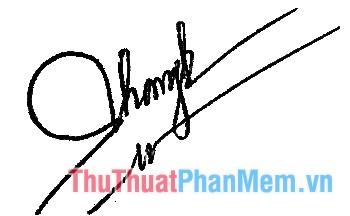 Mẫu chữ ký đẹp 2