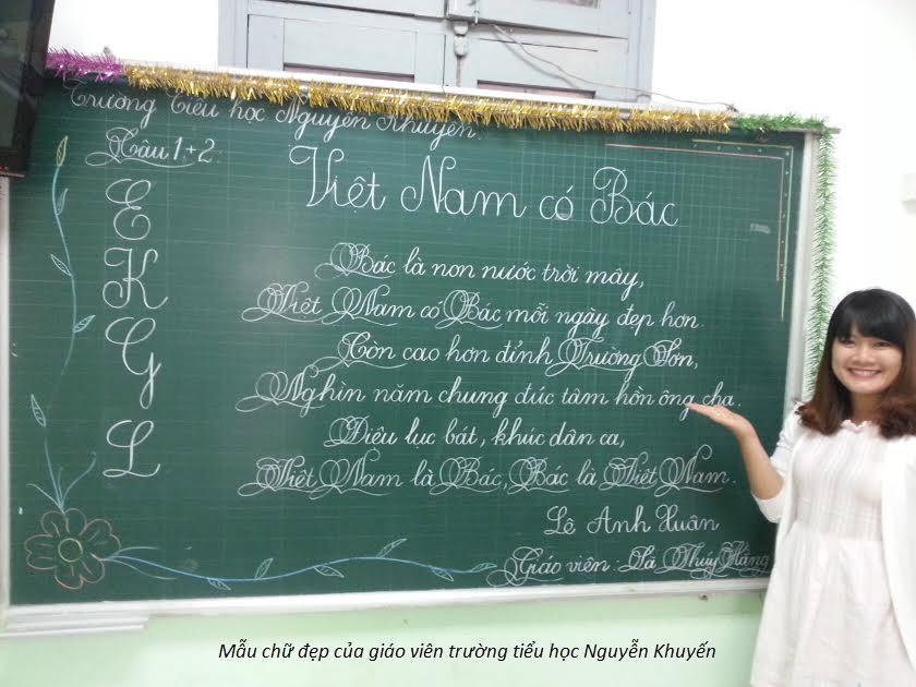 Mẫu chữ viết đẹp của cô giáo
