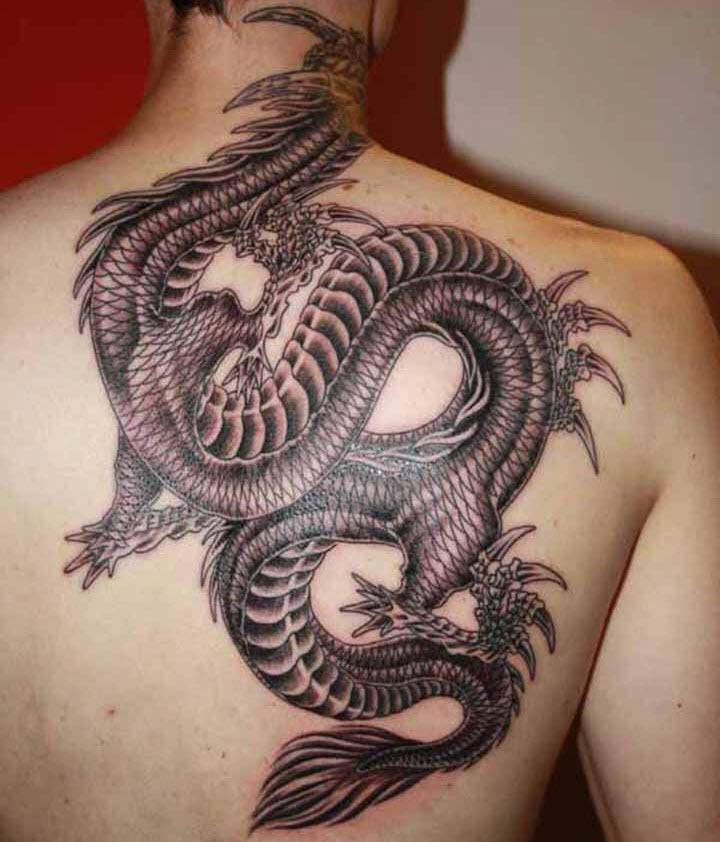 Mẫu hình xăm con rồng cực đẹp