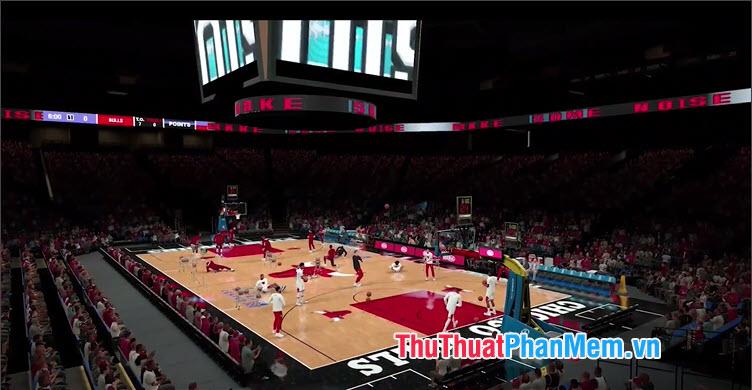 Nền đồ hoạ trong game có thể coi là đỉnh cao với sàn đấu bóng bẩy cùng khán đài sôi động