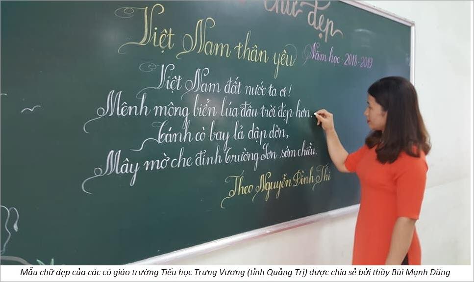 Những mẫu chữ đẹp nhất của các cô giáo