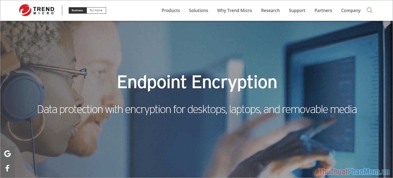 Phần mềm mã hoá Trend Micro Endpoint Encryption