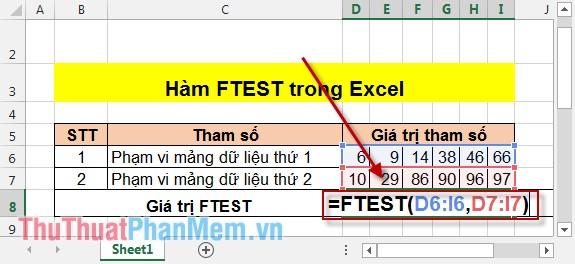 Tính giá trị F-test 2