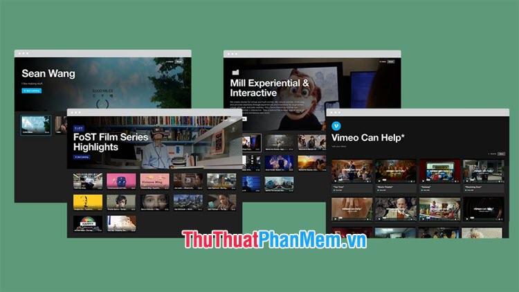 Vimeo là mạng xã hội chia sẻ video cho phép người dùng upload và tải về video ưa thích với chất lượng