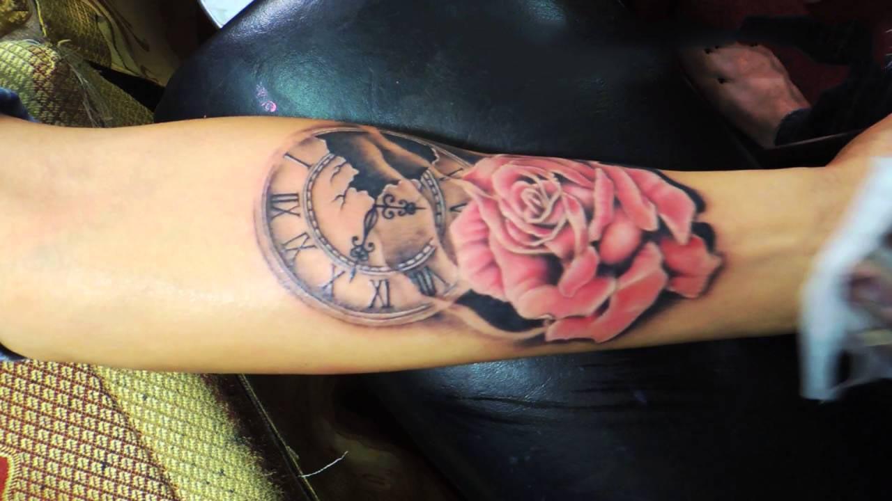 Xăm hình đồng hồ đẹp nhất